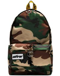 Off-White c/o Virgil Abloh - Green Camouflage Industrial Strap Backpack - Lyst