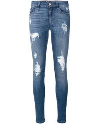 Blugirl Blumarine - Distressed Skinny Jeans - Lyst