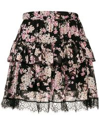 Twin Set - Floral Print Tiered Skirt - Lyst