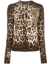 Dolce & Gabbana - Leopard Print Cardigan - Lyst
