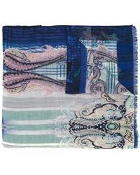 Etro - Abstract Print Scarf - Lyst