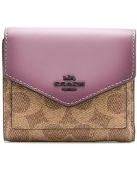 COACH - Colourblock Coated Canvas Small Wallet - Lyst