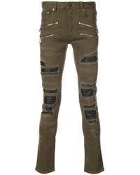 God's Masterful Children - Zip Detail Skinny Jeans - Lyst