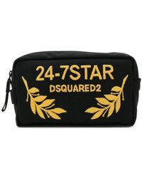 DSquared² - 24-7 Embroidered Wash Bag - Lyst