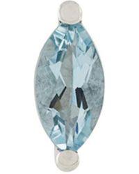 Delfina Delettrez - Dots Solitaire Aquamarine And Pearl Earring - Lyst