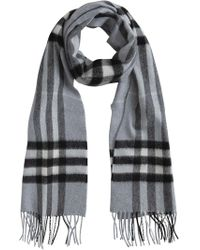 Burberry - Cashmere Check Scarf - Lyst