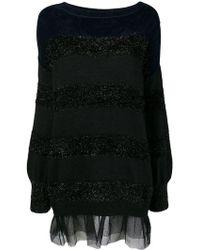 Liu Jo - Long-sleeve Striped Dress - Lyst