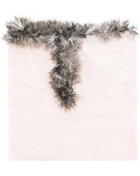 Cutuli Cult - Feather Trim Scarf - Lyst