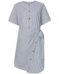 Goen.J - Asymmetric Striped Wrap Dress - Lyst