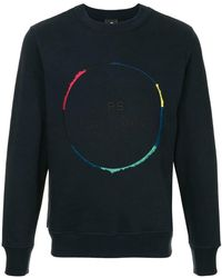 PS by Paul Smith - Navy Crew Neck Sweatshirt - Lyst