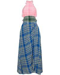 Rosie Assoulin - Plaid Halter Neck Dress - Lyst