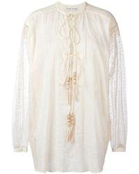 Veronique Branquinho - Embroidered Shirt - Lyst
