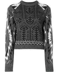 Diesel Black Gold - Cropped Patterned Sweater - Lyst
