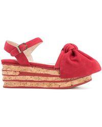 Paloma Barceló - Platform Bow Sandals - Lyst