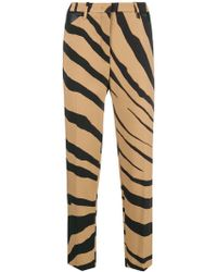 Roberto Cavalli - Cropped Zebra Stripe Trousers - Lyst