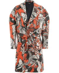 Edward Crutchley - Belted Colour-block Coat - Lyst