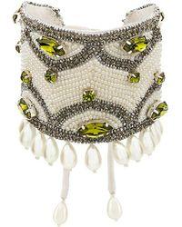 Etro - Crystal Pearls Embellished Bracelet - Lyst