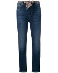 Twin Set - Cropped Skinny Jeans - Lyst