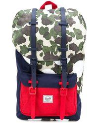 Lyst - Herschel Supply Co. Beaded Logo Backpack in Natural for Men d2543f97e8