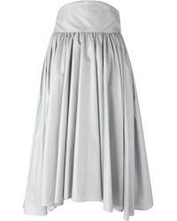 Olympia Le-Tan - Pleated A-line Skirt - Lyst