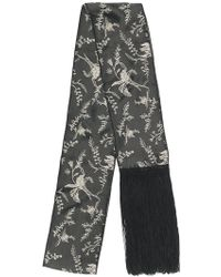 Forte Forte - Fringed Floral Scarf - Lyst