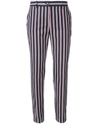 P.A.R.O.S.H. - Striped Tapered Trousers - Lyst