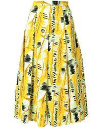 Marni - Printed Midi Skirt - Lyst