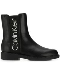 Calvin Klein - Leather Ankle Boots - Lyst
