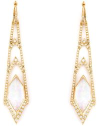 Stephen Webster | 'crystal Haze' Long Diamond Earrings | Lyst