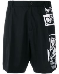 DSquared² - Collage print shorts - Lyst