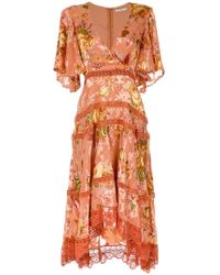 28bf6e078d0fb5 Martha Medeiros - Floral Midi Dress - Lyst
