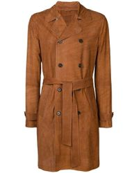 DESA NINETEENSEVENTYTWO - Perforated Double-breasted Coat - Lyst