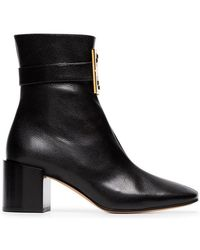Givenchy - Black 4g Leather Ankle Boots - Lyst