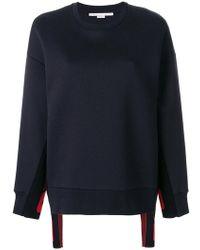Stella McCartney - Sleeve Slogan Sweatshirt - Lyst