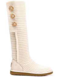 UGG - Classic Cardy Buttons Boots - Lyst