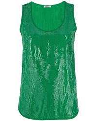 P.A.R.O.S.H. - Paillette Sleeveless Tank Top - Lyst