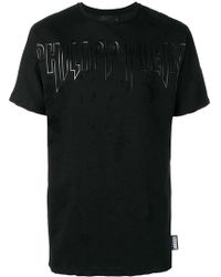 Philipp Plein - Distressed Logo T-shirt - Lyst