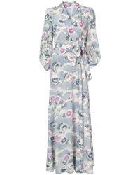 Co. - Kimono Sleeve Wrap Maxi Dress - Lyst