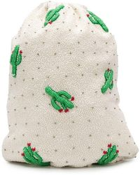 Ganni - Cactus Bead Embroidered Bag - Lyst