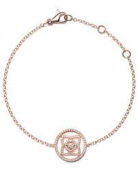 De Beers - 18kt Rose Gold Enchanted Lotus Openwork Diamond Bracelet - Lyst