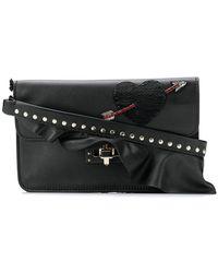 Valentino - Garavani Embellished Heart Clutch Bag - Lyst