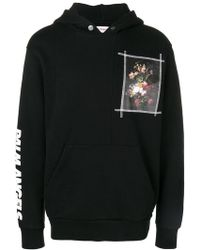 Palm Angels - Floral Print Patch Hoodie - Lyst