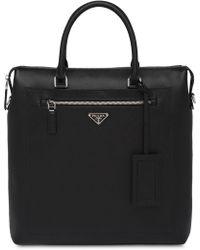 Prada - Saffiano Leather Briefcase - Lyst