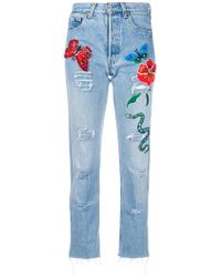 History Repeats - Embroidered Jeans - Lyst