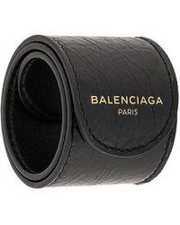 Balenciaga - Logo Print Bracelet - Lyst