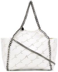 Stella McCartney - Logo Perforated Falabella Shoulder Bag - Lyst