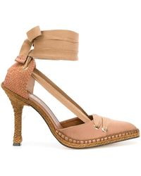 Manolo Blahnik - Mid-heel Espadrille Court Shoes - Lyst