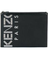 KENZO Pochette imprimée Paris - Noir