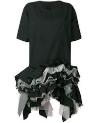 Junya Watanabe T-Shirtkleid mit gerüschtem Saum