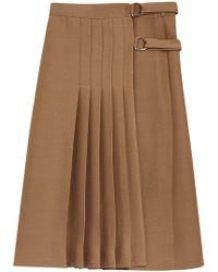 Burberry - Pleated Skirt - Lyst